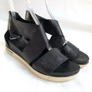 Eileen Fisher Sport Tumbled Leather Sandal black